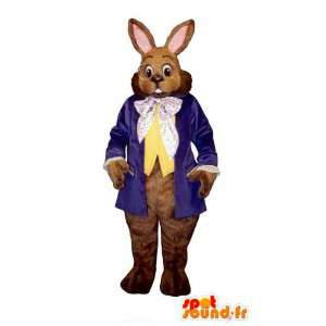 Ruskea kani puku silmälasit, puku - MASFR007108 - maskotti kanit