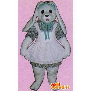 Costume hvit kanin kjole - MASFR007117 - Mascot kaniner