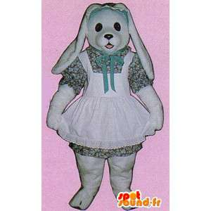 Déguisement de lapine blanche en robe - MASFR007117 - Mascotte de lapins