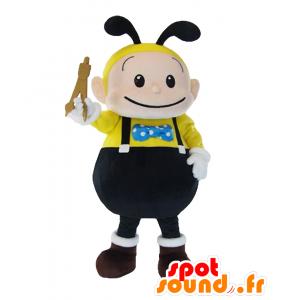 Tekuma mascotte. Ape mascotte, nero e giallo vespa - MASFR27803 - Yuru-Chara mascotte giapponese