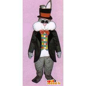 Harmaa kani maskotti puku tyylikäs - MASFR007123 - maskotti kanit