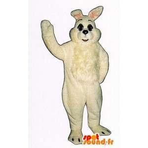 Valkoinen pupu maskotti, jättiläinen - MASFR007129 - maskotti kanit