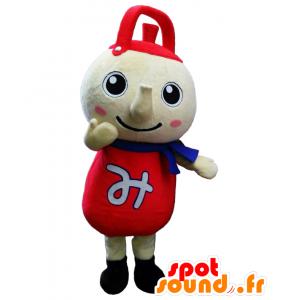 Mitsukamon mascotte, rosso e beige teiera gigante - MASFR27876 - Yuru-Chara mascotte giapponese
