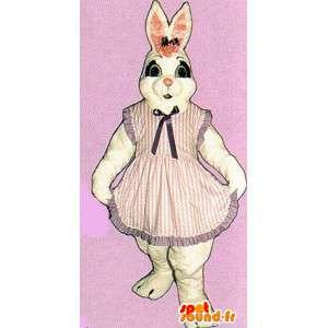 White Rabbit maskotti pukeutunut mekko - MASFR007132 - maskotti kanit