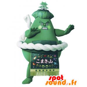 Komakiyama mascotte, sumo verde gigante montagna - MASFR27908 - Yuru-Chara mascotte giapponese
