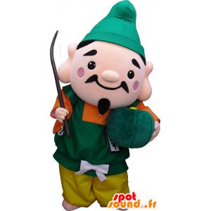 Ebisukun mascotte, un uomo in abito colorato con un cappello - MASFR27915 - Yuru-Chara mascotte giapponese