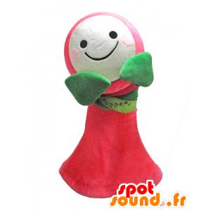 Tsuzuki-chan mascotte, fiore rosa, verde e bianco - MASFR27928 - Yuru-Chara mascotte giapponese