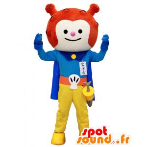Hoyaboya mascotte, alieno rosso vestito come un cavaliere - MASFR27971 - Yuru-Chara mascotte giapponese