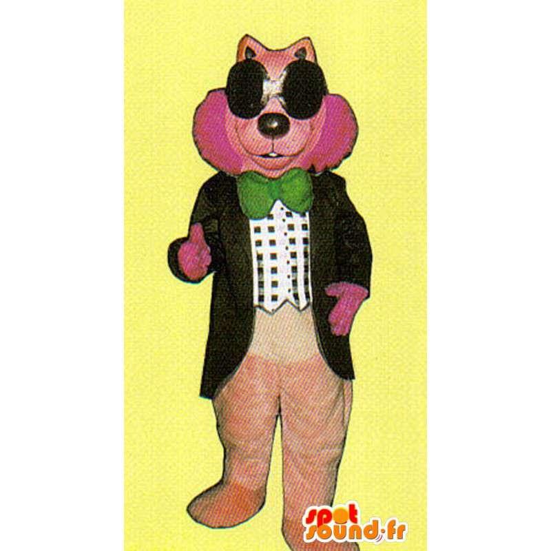 Pink mascot wolf costume - MASFR007140 - Mascots Wolf