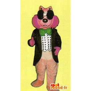 Różowy kostium maskotka wilk - MASFR007140 - wilk Maskotki