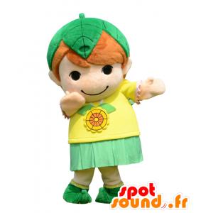 Mascotte Midorichan, un bambino piccolo vestito di giallo e verde - MASFR28022 - Yuru-Chara mascotte giapponese