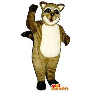 Raccoon mascot tricolor