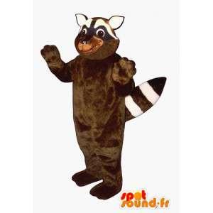 Mapache traje marrón y blanco - MASFR007147 - Mascotas de cachorros