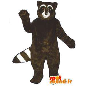 Wholesale raccoon mascot brown and white - MASFR007148 - Mascots of pups