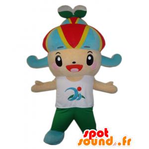 Miya mascotte. Gioviale mascotte ragazzo con un cappello - MASFR28061 - Yuru-Chara mascotte giapponese