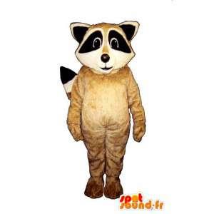 Traje de mapache beige, blanco y negro - MASFR007149 - Mascotas de cachorros