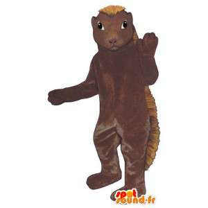 Brown hedgehog mascot, bicolor - MASFR007150 - Mascots Hedgehog