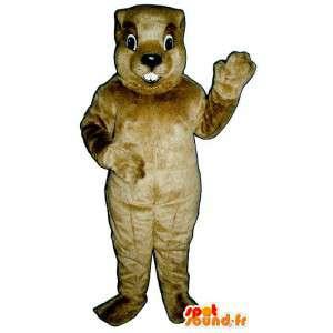 Mascot ruskea majava, jättiläinen koko - MASFR007152 - Mascottes de castor