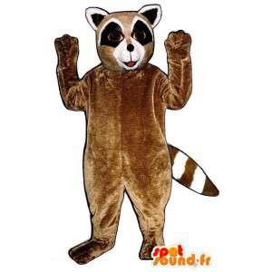 Mapache traje marrón, blanco y negro - MASFR007153 - Mascotas de cachorros