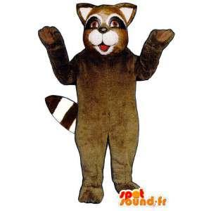 Waschbär-Kostüm braun schwarz und weiß - MASFR007154 - Maskottchen von pups