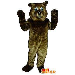 Brun marmot maskot. Beaver kostume - Spotsound maskot kostume