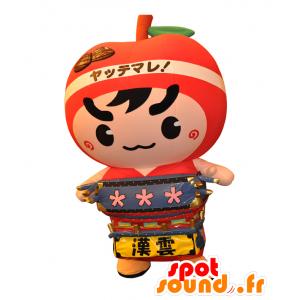 Goshorin mascotte. Ragazzo mascotte, una mela rossa gigante - MASFR28130 - Yuru-Chara mascotte giapponese