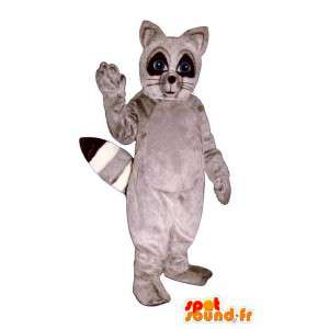 Traje de mapache gris y negro - MASFR007156 - Mascotas de cachorros