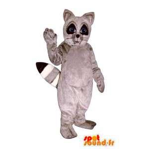 Waschbär-Anzug grau und schwarz - MASFR007156 - Maskottchen von pups