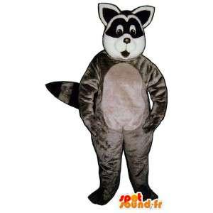 Raccoon Maskottchen grau - MASFR007157 - Maskottchen von pups