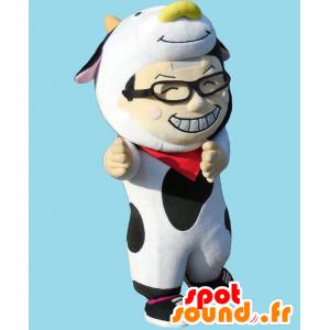 Mascotte Oyaji kun. Mascotte vestita da uomo mucca - MASFR28158 - Yuru-Chara mascotte giapponese