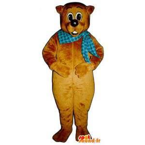 Costume brown teddy bear - MASFR007159 - Bear mascot
