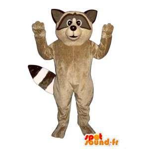 Mascotte de raton laveur beige. Costume de raton laveur