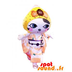 Maskot Setochi. Kvindemaskot i kimono - Spotsound maskot kostume