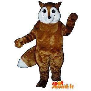 Maskottchen-braun und weiß Fuchs.Fox Kostüm - MASFR007161 - Maskottchen-Fox