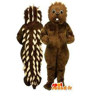 Mascotte marrone riccio con punte bianche - MASFR007162 - Mascotte Hedgehog