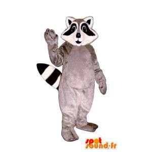 Waschbär-Kostüm grau schwarz und weiß - MASFR007165 - Maskottchen von pups