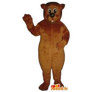 Brun bamse maskot. Brunbjørn kostume - Spotsound maskot kostume