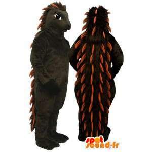 Hedgehog mascot brown and orange - MASFR007171 - Mascots Hedgehog