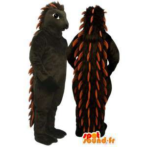 Riccio mascotte marrone e arancio - MASFR007171 - Mascotte Hedgehog