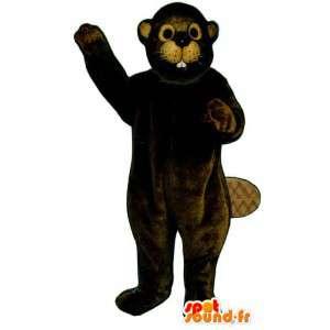 Mørkebrun bæverdragt - Spotsound maskot kostume