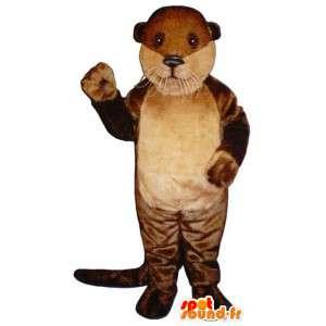 Mascot bicolor lontra castanho