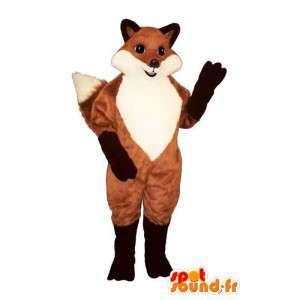 Mascot Orange Fuchs schwarz und weiß - MASFR007177 - Maskottchen-Fox