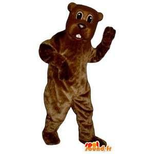 Disfraz de castor marrón, adaptable,