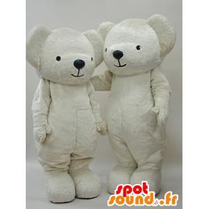 2 bianchi mascotte orsacchiotto, completamente personalizzabile - MASFR28277 - Yuru-Chara mascotte giapponese