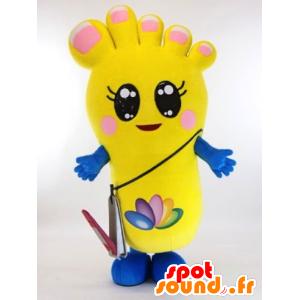 Pederin mascotte. Piede mascotte gialla, gigante - MASFR28285 - Yuru-Chara mascotte giapponese