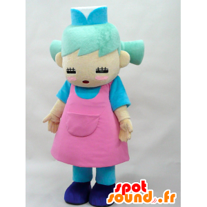Maido-chan mascotte. Verde ragazza dai capelli mascotte - MASFR28287 - Yuru-Chara mascotte giapponese