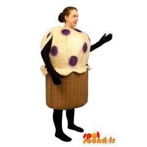 Mascotte de gâteau géant. Costume de muffin - MASFR007183 - Mascottes de patisserie