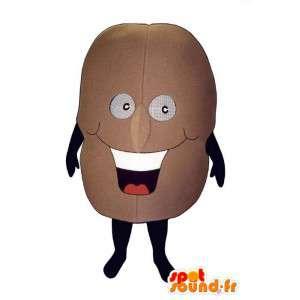 Appel mascotte bruine aarde. aardappel Costume
