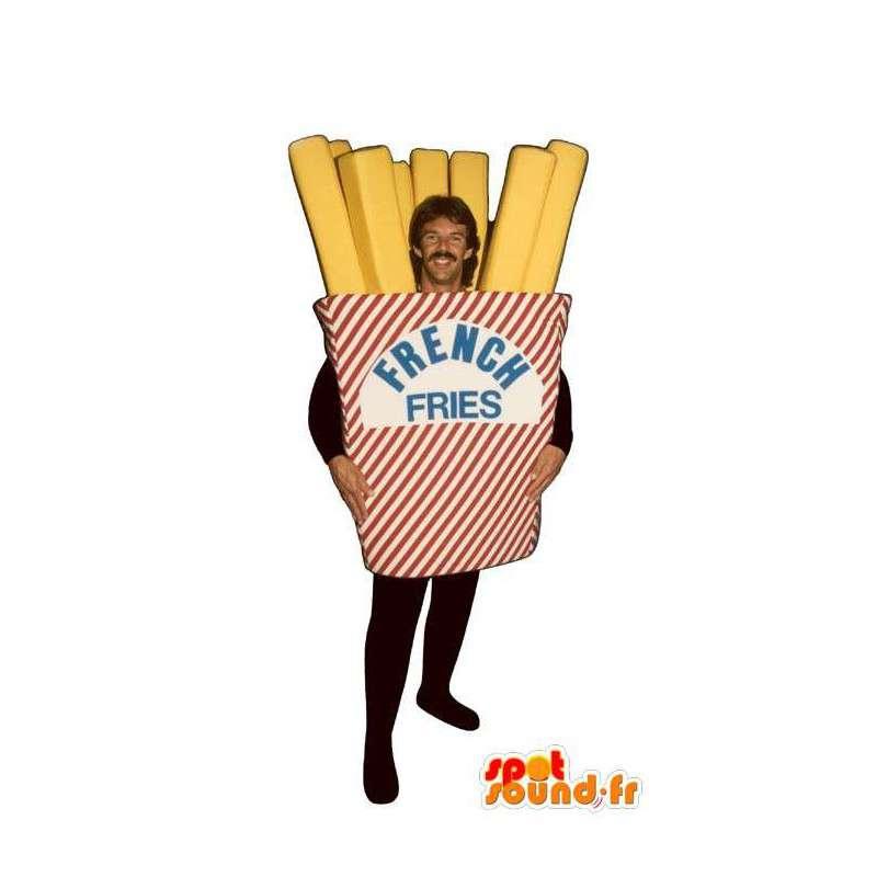 Mascotte de cornet de frites géant. Costume de frites - MASFR007192 - Mascottes Fast-Food