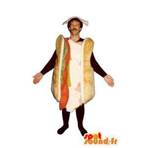 Mascotte de sandwich géant. Costume de sandwich